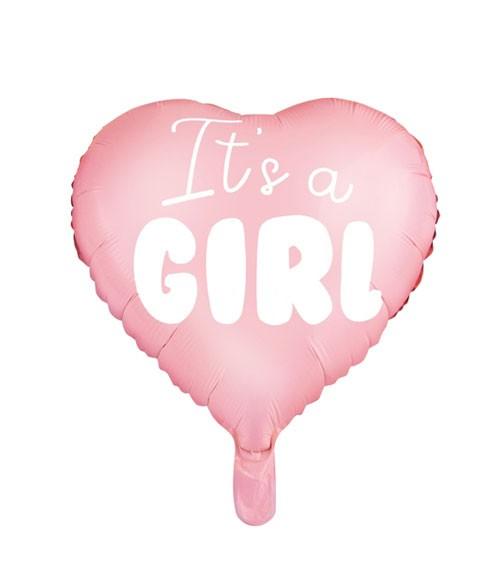 """Herz-Folienballon """"It's a girl"""" - 45 cm"""
