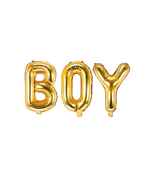 "Folienballon-Set ""BOY"" - gold - 35 cm"