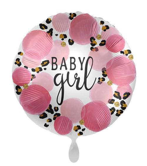 "Folienballon ""Baby Girl"" mit Leopardenmuster"