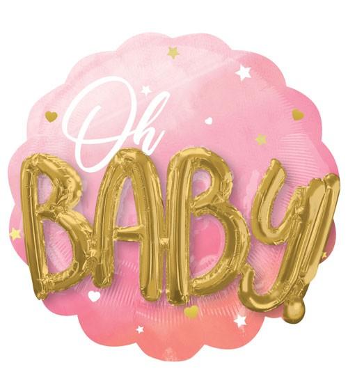 "Multi-Folienballon ""Oh Baby"" - Girl - 71 x 71 cm"
