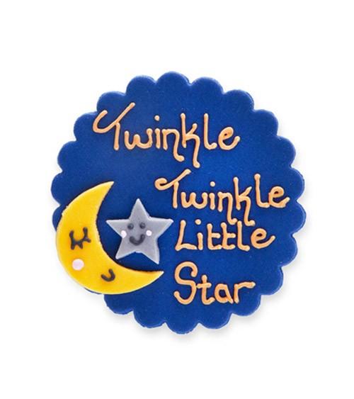 """Zuckerdekor """"Twinkle twinkle little Star"""" - 8 cm"""