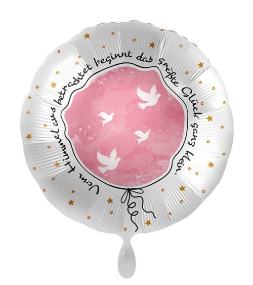 """Folienballon """"Taufe - Kleines großes Glück"""" - rosa"""