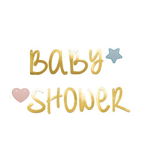 """Girlande """"Baby Shower"""" - metallic gold - 2,2 m"""