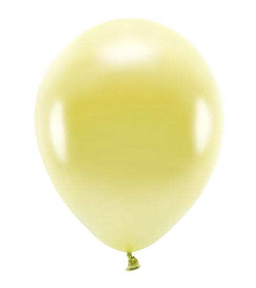Metallic-Ballons - hellgelb - 30 cm - 10 Stück