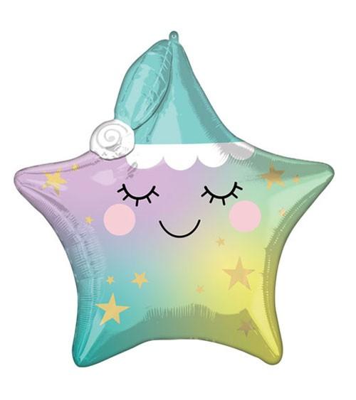 """Multi-Stern-Folienballon """"Sleppy Little Star"""" - 60 x 63 cm"""