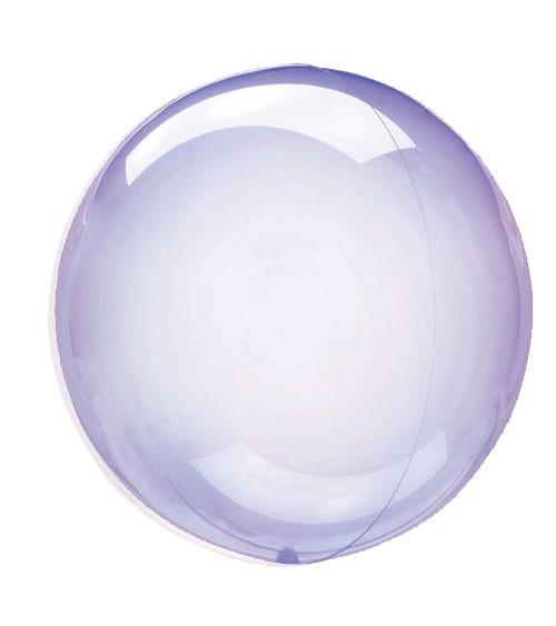 "Kugel-Folienballon ""Clearz Crystal"" - lavendel - 45-56 cm"