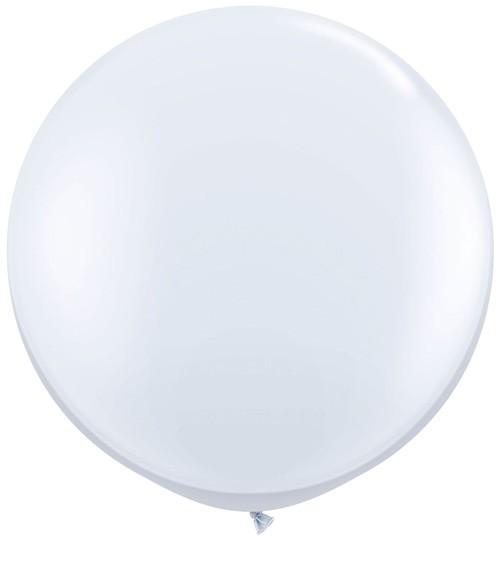 Riesiger Rundballon - weiß - 90 cm