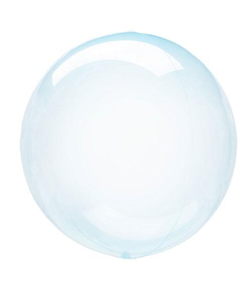 "Kugel-Folienballon ""Clearz Crystal"" - hellblau - 45-56 cm"