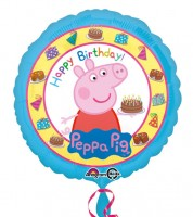 "Runder Folienballon ""Peppa Wutz"" - Happy Birthday - 43 cm"