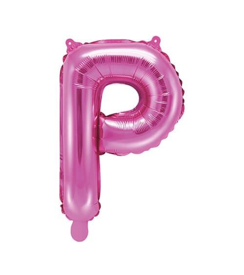 "Folienballon Buchstabe ""P"" - pink - 35 cm"