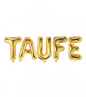 "Folienballon-Set ""Taufe"" - gold"