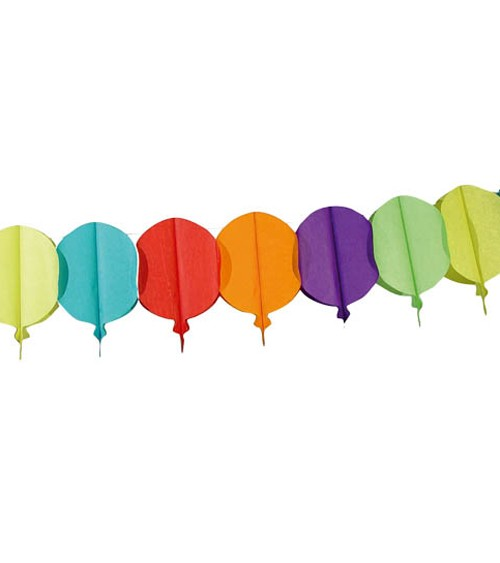 "Papiergirlande ""Luftballons"" - bunt - 6 m"