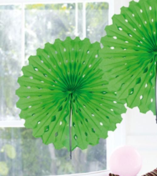 Papier-Deko-Fächer - 45 cm - hellgrün