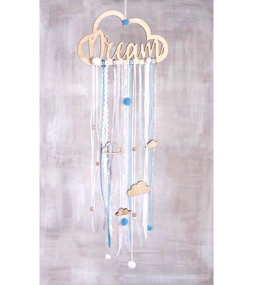"""DIY-Set """"Dream"""" mit Holzhänger und Bändern"""