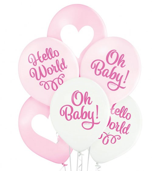 "Luftballon-Set ""Oh Baby Girl"" - 6-teilig"