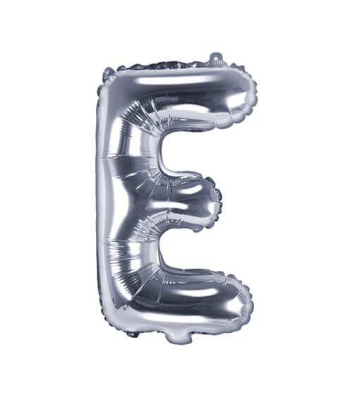 """Folienballon Buchstabe """"E"""" - silber - 35 cm"""