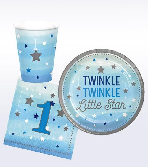 "Geburtstags-Deko-Set ""One Little Star - Boy"" - 32-teilig"