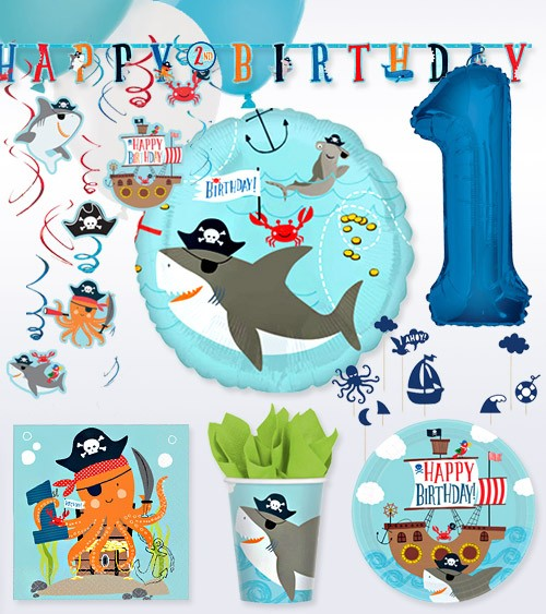 "1. Geburtstag Deko-Set ""Ahoy Birthday"" - 57-teilig"