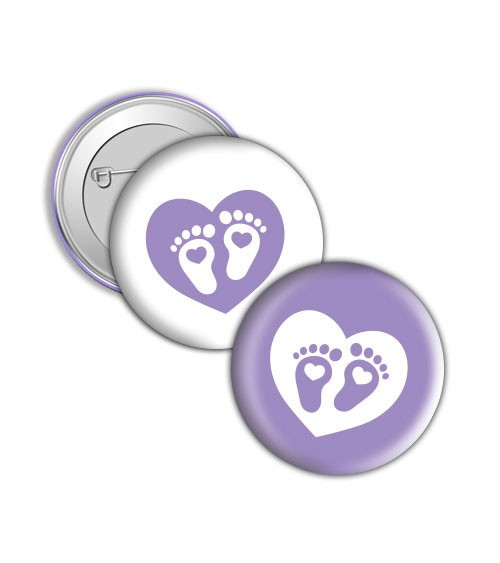 "Button ""Babyfüßchen"" - Lavendel"