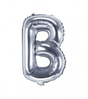 "Folienballon Buchstabe ""B"" - silber - 35 cm"