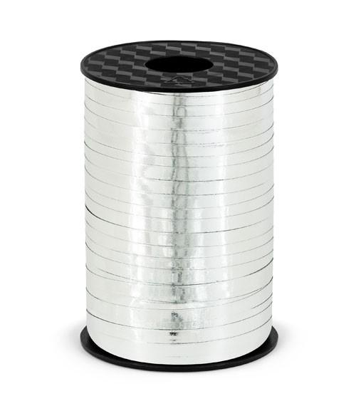 Geschenkband - metallic silber - 5 mm x 225 m