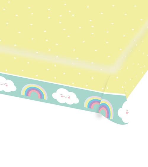 """Papiertischdecke """"Regenbogen und Wolke"""" - 115 x 175 cm"""