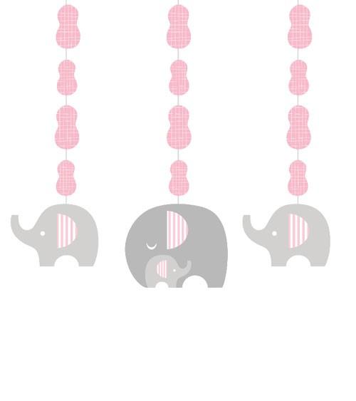 """3er Motivgirlande """"Kleiner Elefant - rosa"""""""