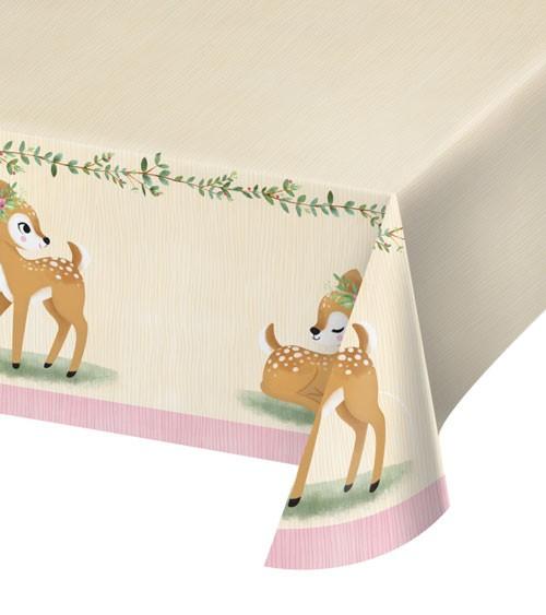 """Papier-Tischdecke """"Kleines Reh"""" - 137 x 259 cm"""