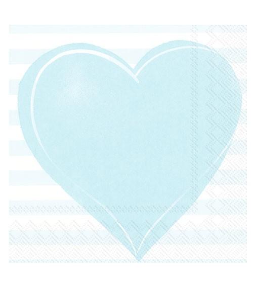 """Servietten """"All you need is love"""" - hellblau - 20 Stück"""