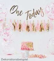 1. Geburtstags-Deko-Set - rosa/gold metallic - 8-teilig