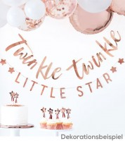 Twinkle Twinkle Little Star-Girlande - rosegold - 2-teilig