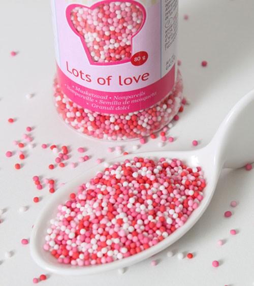 FunCakes Zuckerperlen - rosa, rot, weiß - 80g
