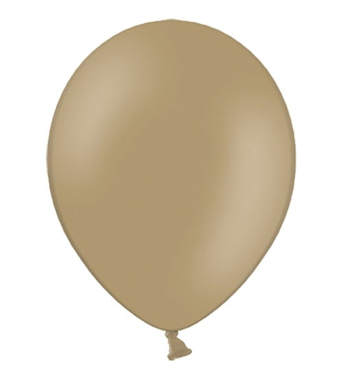 Standard-Luftballons - cappuccino - 10 Stück