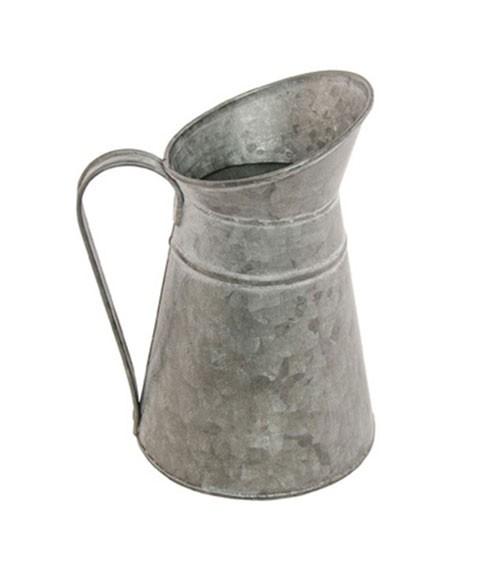 Deko-Milchkrug aus Zink- 12 x 17,5 cm