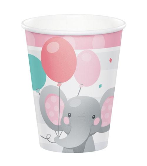 """Pappbecher """"Little Elephant - Girl"""" - 8 Stück"""