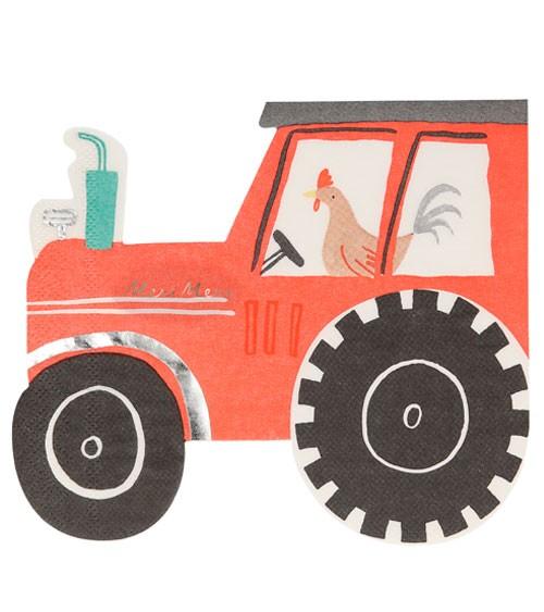 """Shape-Servietten """"Traktor"""" - 16 Stück"""