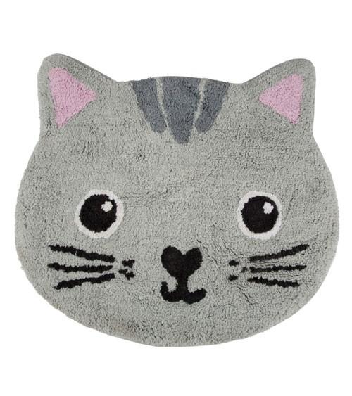 """Kleiner Teppich aus Baumwolle """"Katze"""" - 62 x 56 cm"""