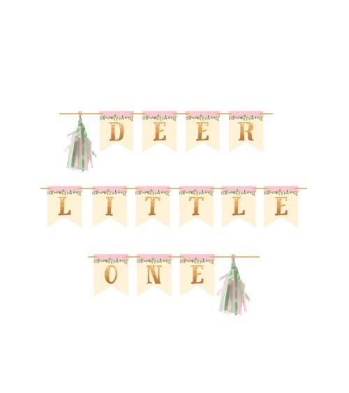 """Wimpelgirlande mit Tasseln """"Kleines Reh"""" - Deer Little One - 2,2 m"""
