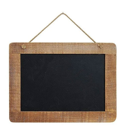 Kreidetafel mit Holzrahmen zum Hängen - 29 x 22 cm