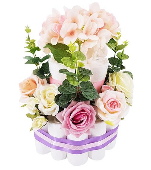 "Windeltorte ""Blütenzauber"" - rosa"