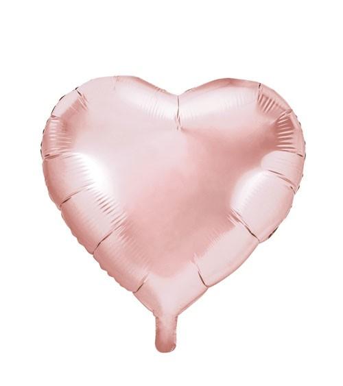"Folienballon ""Herz"" - rosegold - 45 cm"