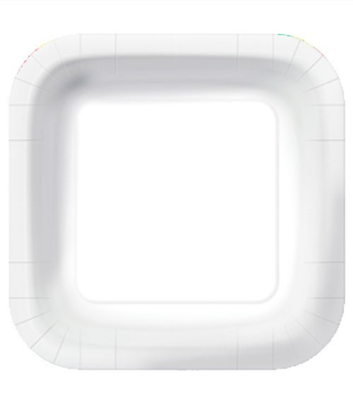 """Viereckige Pappteller """"Eco"""" - weiß - 10 Stück"""