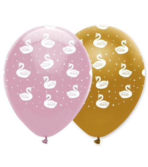 "Luftballon-Set ""Eleganter Schwan"" - 6 Stück"