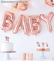 "Folienballon-Girlande ""Baby"" - rosegold"