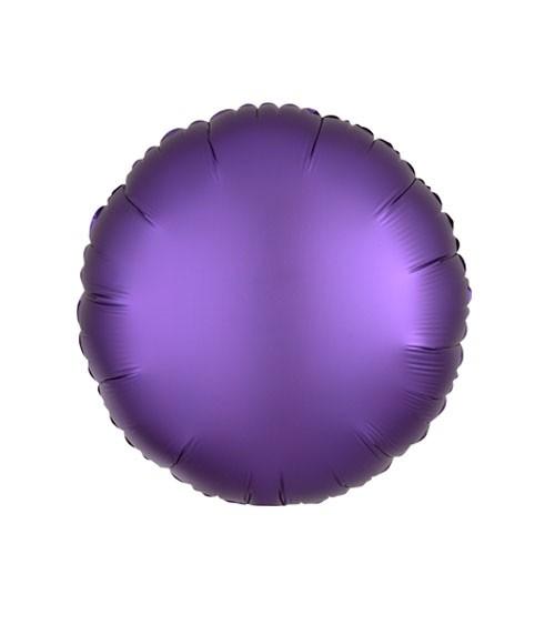 "Runder Folienballon ""Satin Luxe"" – lila – 43 cm"