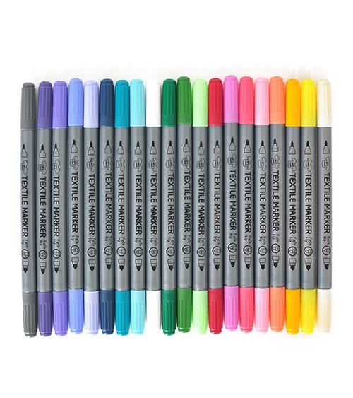 Stoffmalstifte - Zusatzfarben - 20 Stück