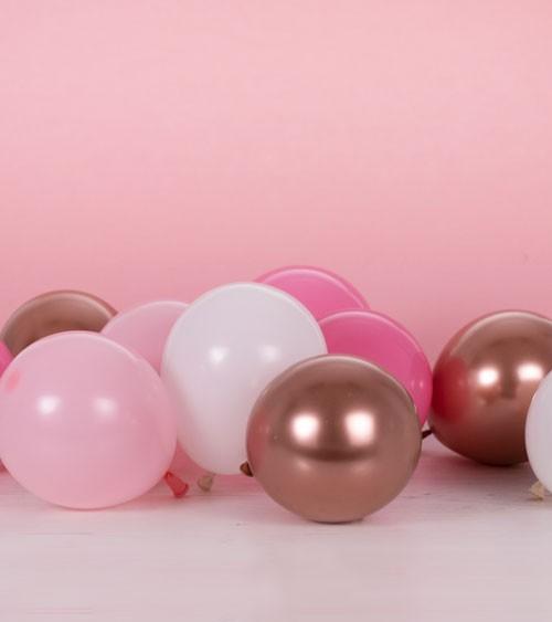 Mini-Luftballon-Set - Farbmix Pink & Rosegold - 12 cm - 40 Stück