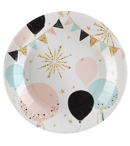 """Pappteller """"Glitter Party"""" - 10 Stück"""