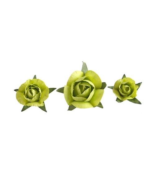 """Streudeko """"Rosen"""" - grün - 20-teilig"""