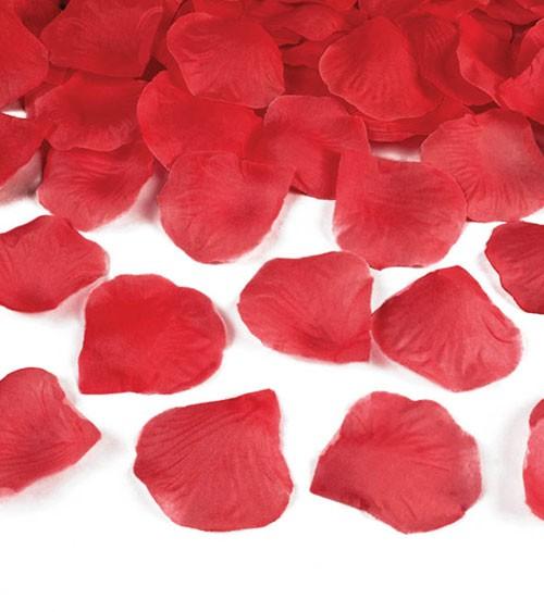 Rosenblätter aus Stoff - rot - ca. 100 Stück